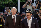 Russian President Vladimir Putin and Prime -Minister Greece Tsipras