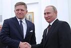 Slovak Prime Minister Robert Fico and Russian President Vladimir Putin
