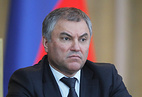 Chairman of Russia's State Duma, Vyacheslav Volodin