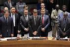 Заместитель постпреда РФ в ООН Петр Ильичев (в центре), 21 февраля