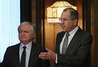 Министр иностранных дел Армении Эдвард Налбандян и министр иностранных дел России Сергей Лавров