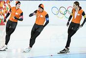 Jan Blokhuijsen, Sven Kramer and Koen Verweij