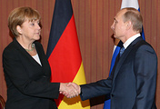 German Chancellor Angela Merkel and Russian President Vladimir Putin (archive)