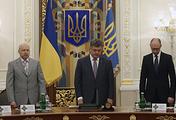 Oleksandr Turchynov , Petro Poroshenko and Arseniy Yatsenyuk