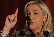 French National Front party leader Marine Le Pen