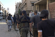 Allegedly Islamic State militants advance in southern Damascus