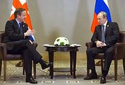 UK Prime Minister David Cameron and Russian President Vladimir Putin