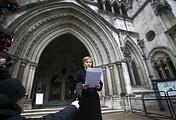 Marina Litvinenko, widow of former Russian spy Alexander Litvinenko, outside the Royal Courts of Justice in London