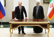 Russian President Vladimir Putin and Iran's President Hassan Rouhani, Nov. 23, 2015