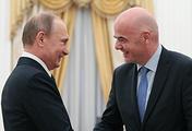 Vladimir Putin and Gianni Infantino