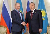Russian President Vladimir Putin and President of Kazakhstan Nursultan Nazarbaev
