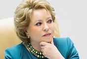 The speaker of Russia's Federation Council, Valentina Matviyenko