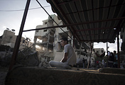 Palestinians in Gaza City (archive)