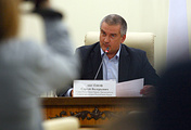 The head of Crimea, Sergey Aksyonov