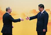 China's President Xi Jinping and Russian President Vladimir Putin, November 11, 2014