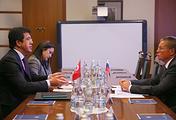 Turkey's Economy Minister Nihat Zeybekci and Russian Economic Development Minister Alexei Ulyukayev