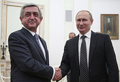 Armenian and Russian presidents, Serzh Sargsyan and Vladimir Putin