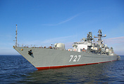 The Russian Baltic Fleet's frigate Yaroslav Mudry