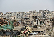 Eastern area of Aleppo, Syria