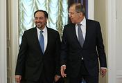 Afghan and Russian foreign ministers, Salahuddin Rabbani and Sergey Lavrov