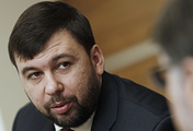 The plenipotentiary representative of the self-proclaimed Donetsk People's Republic Denis Pushilin