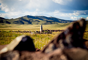 A burial mound in Siberia