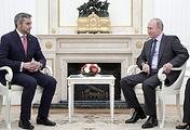 Paraguay's President-elect Mario Benitez and Russian President Vladimir Putin