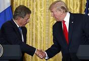 US President Donald Trump and Finnish President Sauli Niinisto