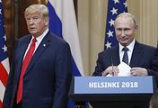 US President Donald Trump and Russian President Vladimir Putin in Helsinki