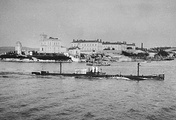 The Kambala submarine enters Sevastopol's Southern Bay, 1908-1909