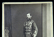 Portrait of Emperor Alexander II by photographer Sergei Levitsky (1860s)