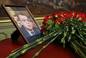 A portrait of Russian Ambassador to Turkey Andrei Karlov