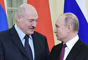 Belarusian President Alexander Lukashenko and Russian President Vladimir Putin