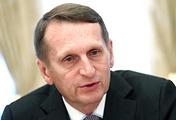 Sergei Naryshkin, chief of the Russian Foreign Intelligence Service