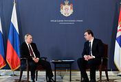 Russia's President Vladimir Putin and Serbia's President Aleksandar Vucic