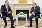 Moldovan President Igor Dodon and Russian President Vladimir Putin