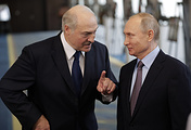 Belarusian and Russian presidents, Alexander Lukashenko and Vladimir Putin