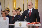 Церемония инаугурации Владимира Путина в качестве президента России в Андреевском зале Большого Кремлевского дворца, 7 мая 2012 года