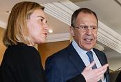 Федерика Могерини и Сергей Лавров, 11 февраля