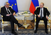 Жан-Клод Юнкер и Владимир Путин