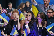 """Представительница Украины Джамала на финале 61-го международного конкурса песни """"Евровидение - 2016"""""""