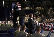 Выступление президента США Дональда Трампа на базе Форт-Майер, 21 августа