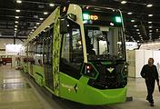 "Трамвай ""Чижик"" во время презентации на форуме SmartTransport"