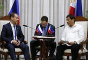 Премьер-министр РФ Дмитрий Медведев и президент Филиппин Родриго Дутерте