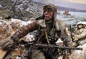 Сюжет трехмерной панорамы воссоздает события 13 января 1943 года у деревни Арбузово Ленинградской области