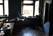 Класс школы №5, в котором совершено нападение, в военном поселке Сосновый Бор