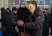 Родственники жертв авиакатастрофы в аэропорту Орска