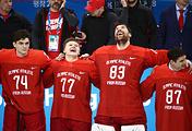 Игроки команды олимпийских спортсменов из России