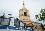 Церковь Архангела Михаила, где произошло нападение на прихожан в Грозном