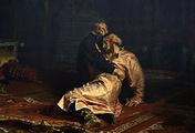 """Репродукция картины Ильи Репина """"Иван Грозный и сын его Иван 16 ноября 1581 года"""""""